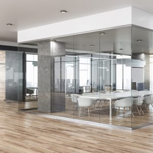 cabine d'atelier en verre pour bureau